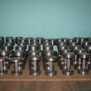 Гантельный ряд без покрытия от 10 до 44 кг