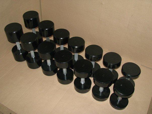 Гантельный ряд крашенные 10-22 кг