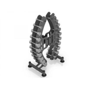 Гантельный ряд со стойкой Marbo-Sport 1-10 кг