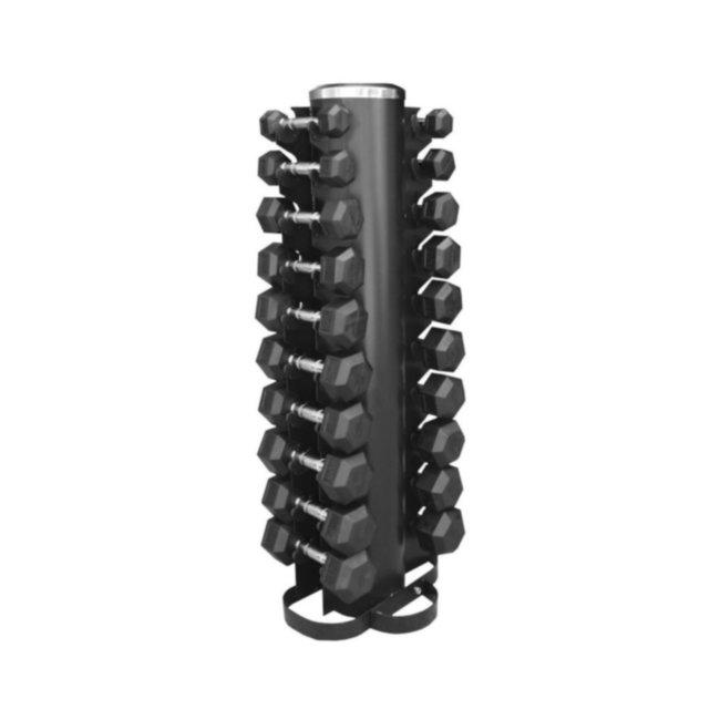 Обрезиненный ряд 1-10 кг со стойкой Hexagon Dumbbell