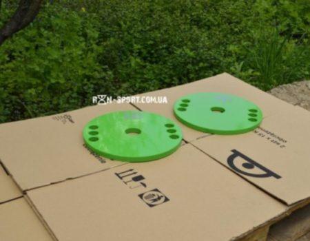Диск (блин) для штанги стальной, крашенный 10 кг - 51 мм