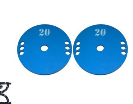 Диск (блин) для штанги стальной, крашенный 20 кг - 51 мм