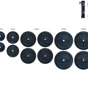Набор блинов 125 кг (2х2.5, 2х5, 4х10, 2х15, 2х20)