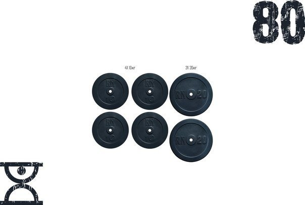 Набор блинов 80 кг (4x10 и 2x20) на гриф 25,30,50 мм