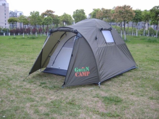Удобная двухместная палатка Green Camp 3006