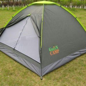 Трехместная однослойная классическая палатка Green Camp 1012