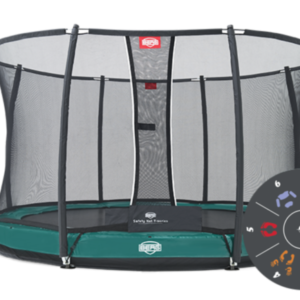 Батут Berg Elite+ Inground Green 430 Tattoo+Safety Net T-series 430