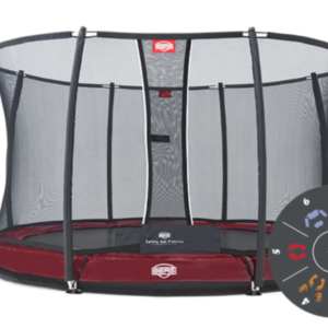 Батут Berg Elite+ Inground Red 430 Tattoo+Safety Net T-series 430