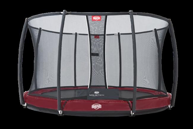 Батут Berg Elite+InGround Red 380+Safety Net T-series 380