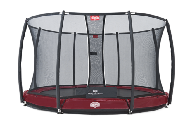 Батут Berg Elite+InGround Red 430+Safety Net T-series 430