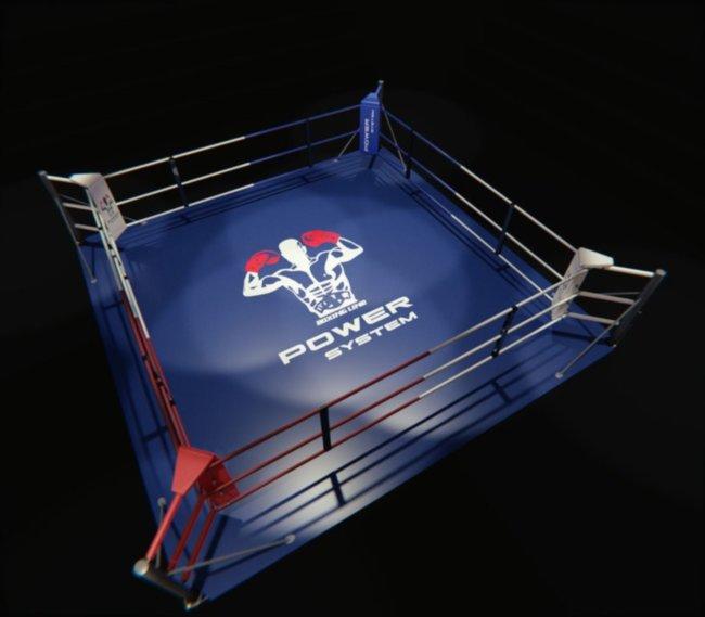 Ринг напольный, тренировочный 6,5 х 6,5 МЕТРА