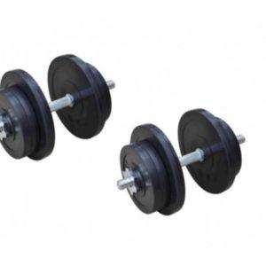 Гантели обрезиненные наборные RN-Sport 2 по 21 кг
