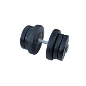 Композитная гантель RN-Sport 21,5 кг с хром грифом