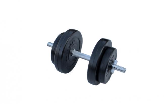 Композитная гантель RN-Sport 8,5 кг с хром грифом