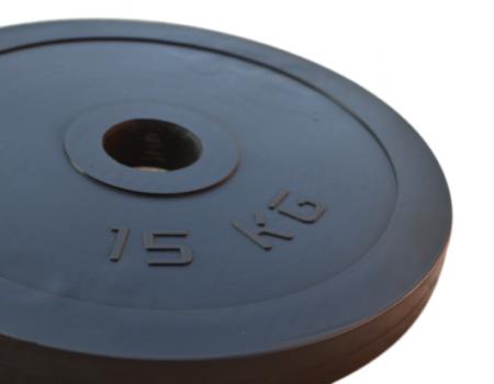 Прорезиненная штанга на 165 кг с олимпийским грифом