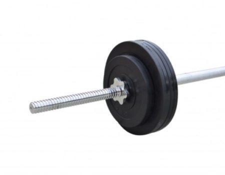 Штанга обрезиненная RN-Sport  52 кг с прямым грифом
