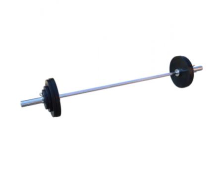 Штанга обрезиненная RN-Sport  80 кг с олимпийским грифом
