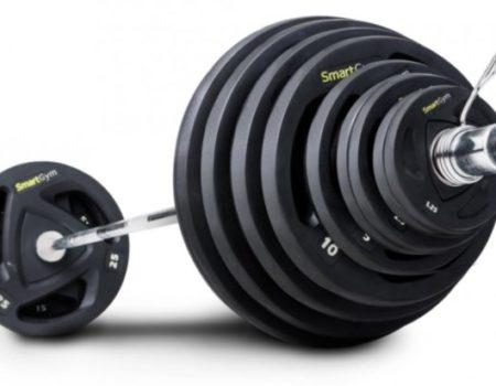 Штанга с прорезиненными блинами SmartGym 135 кг с грифом 220 см - 50 мм