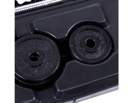 Набор гантели + штанга разборные черная блины в кейсе 50кг IR92075A