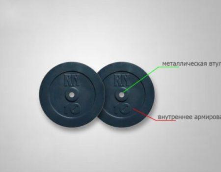 Штанга наборная с W-образным грифом Rn-Sport Light + 25 кг дисков