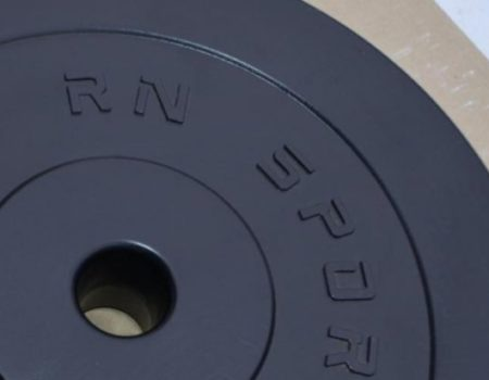 Разборная W-образная штанга с пластиковым покрытием на 40 кг