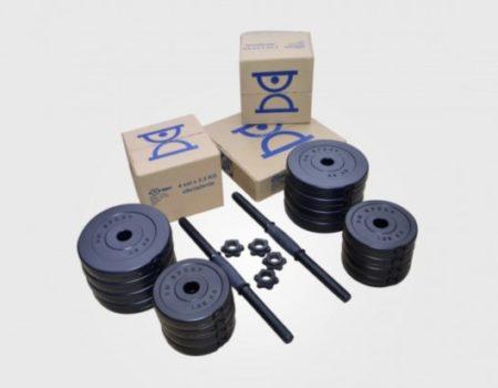 Гантели наборные 2 шт RN16 кг с ABS  покрытием + Эспандер и скакалка
