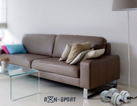 Гантель RN-Sport (Gray) - 13 кг c  ABS покрытием
