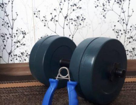 Разборная гранилитная гантель 10 кг - 1 шт + Подарок