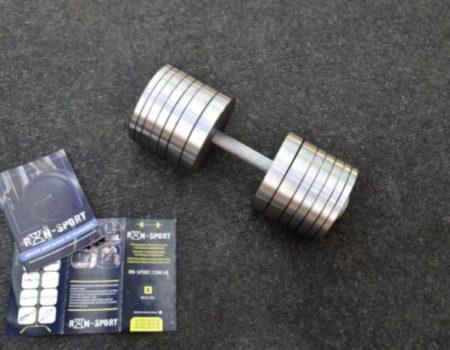 Две гантели стальные по 48 кг