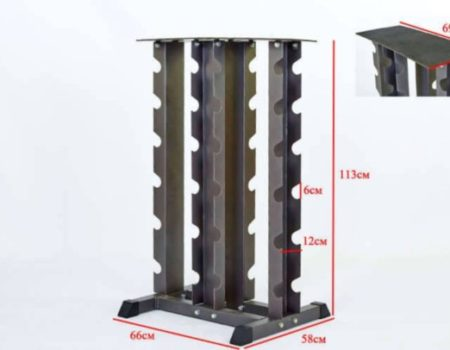 Подставка (стойка) четырехсторонняя для гантелей RK2128
