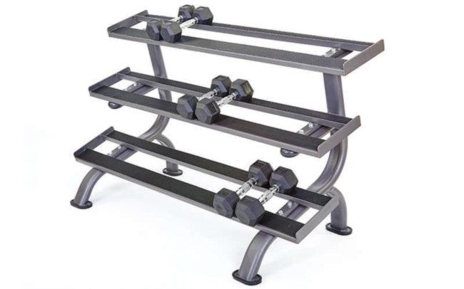 Подставка (стойка) трехъярусная для гантелей RK2215Y