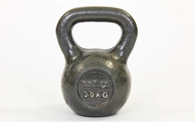 Гиря чугунная окрашенная черная TA-1815-20 20кг (чугун, черный)
