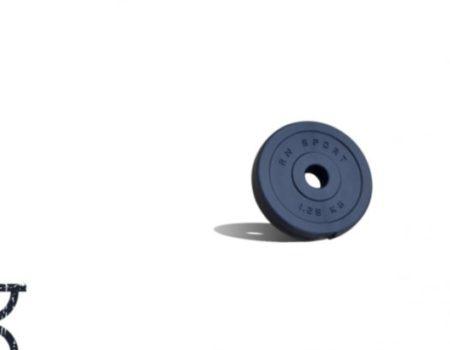 15 кг (4x1,25 и 4x2.5) дисков, покрытых пластиком (31 мм)