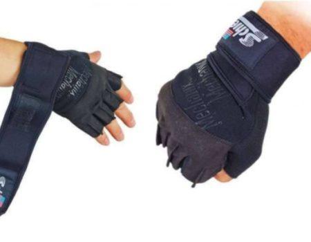 Перчатки для пауэрлифтинга SCHIEK с напульсником Mehanix