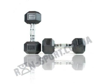 Гантели шестигранные ряд 1-20 кг  Rubber Hexagon Dumbbell