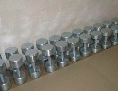 Гантельный ряд оцинкованный 10 - 30 кг