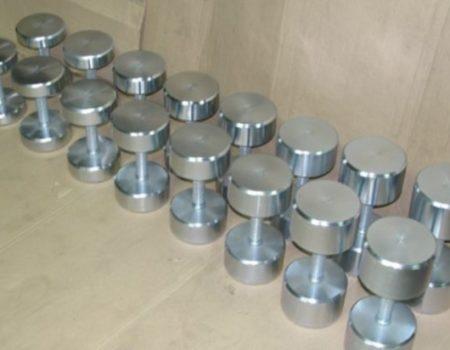 Гантельный ряд оцинкованный от 14 до 28 кг