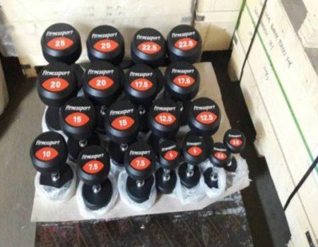 Гантельный ряд профессиональный FDS-10 от 2.5 до 25kg