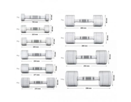Набор хромированных гантелей S-Gym 110кг